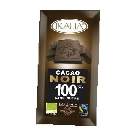 CACAO NOIR SANS SUCRE 100% 100GRS