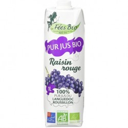 JUS DE RAISIN ROUGE TETRA 1L