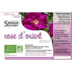 SIROP 25CL ROSE D'ORIENT
