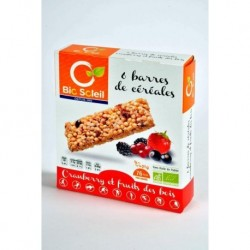 BARRE CEREALE CRANBER FRUITS BOIS(6)125G