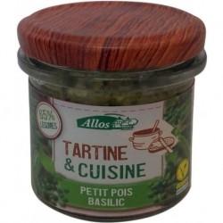 TARTINE CUISINE PETIT POIS BASILIC 135 GRS