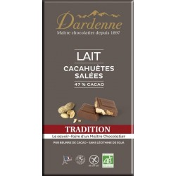 CHOCOLAT LAIT 47% CACAHUETE SALEE 180G