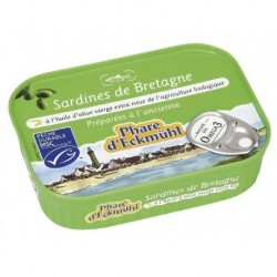 SARDINES HUILE OLIVE 102 GRS