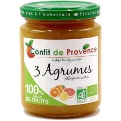 CONFITURE ALLÉGÉE 3 AGRUMES 290G