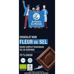 CHOCOLAT NOIR 70% FLEUR DE SEL MH 100G