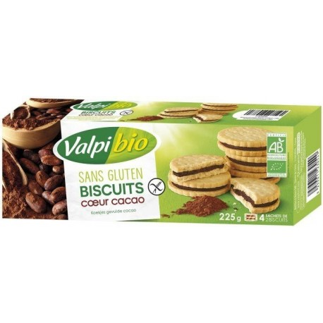 BISCUIT FOURRE COEUR CACAO 225G