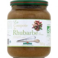 COMPOTE DE RHUBARBE AVEC MORCEAUX 725G