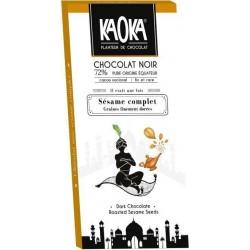 CHOCOLAT NOIR 72% SESAME COMPLET 100G