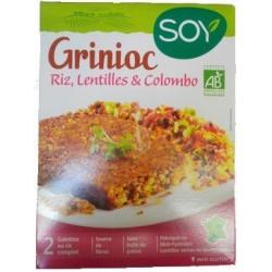 GRINIOC RIZ, LENTILLES ET COLOMBO 2X100GRS