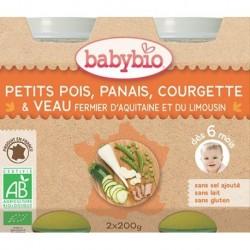 PETITS POIS PANAIS COURGETTE VEAU POT 2X200G