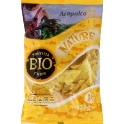 TORTILLA CHIPS MAÏS NATURES 125GRS