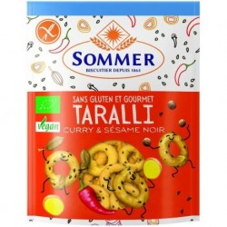 TARALLI CURRY SESAME NOIR 100 GRS