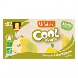 PACK FAMILIAL COOL FRUIT POMME POIRE WILLIAMS 12X90GRS