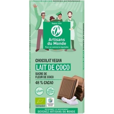 CHOCOLAT LAIT VÉGÉTAL COCO 48% 100G