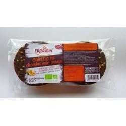 GALETTES RIZ COMPLET CHOCOLAT NOIR ORANGE 85G
