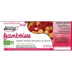 CONFITURE DE FRAMBOISES 230 GRS