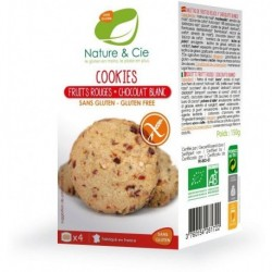 COOKIES FRUITS ROUGES CHOCOLAT BLANC (8) 150G