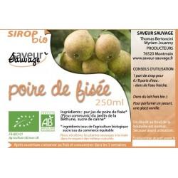 SIROP 25CL POIRE DE FISÉE