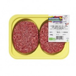 STEAKS HACHÉS 15%MG 2 X 125GRS (P)