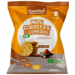 MINI GALETTES LENTILLE CURRY 50 GRS