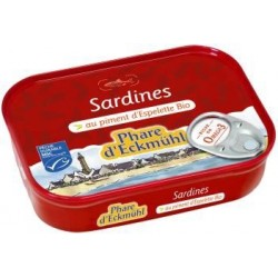 SARDINES HUILE OLIVE PIMENT ESPELETTE 135G