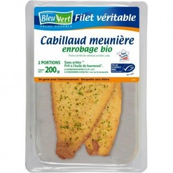 CABILLAUD FILETS MEUNIERE (2) 200G