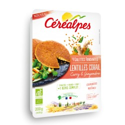 GALETTE LENTILLE CORAIL CURRY GINGEMBRE 200G