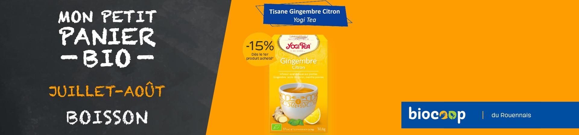 Tisane gingembre citron Yogi Tea