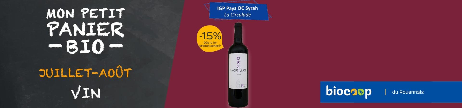 IGP Pays OC Syrah La Circulade